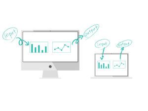 インプットとアウトプットデータ